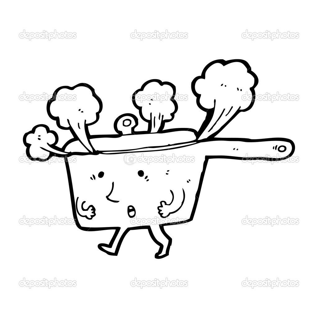 Steaming Pan Cartoon
