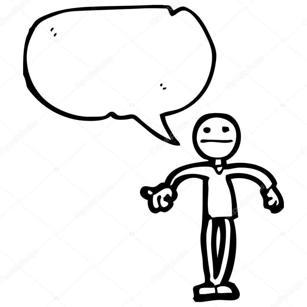 Stick Man With Speech Bubble