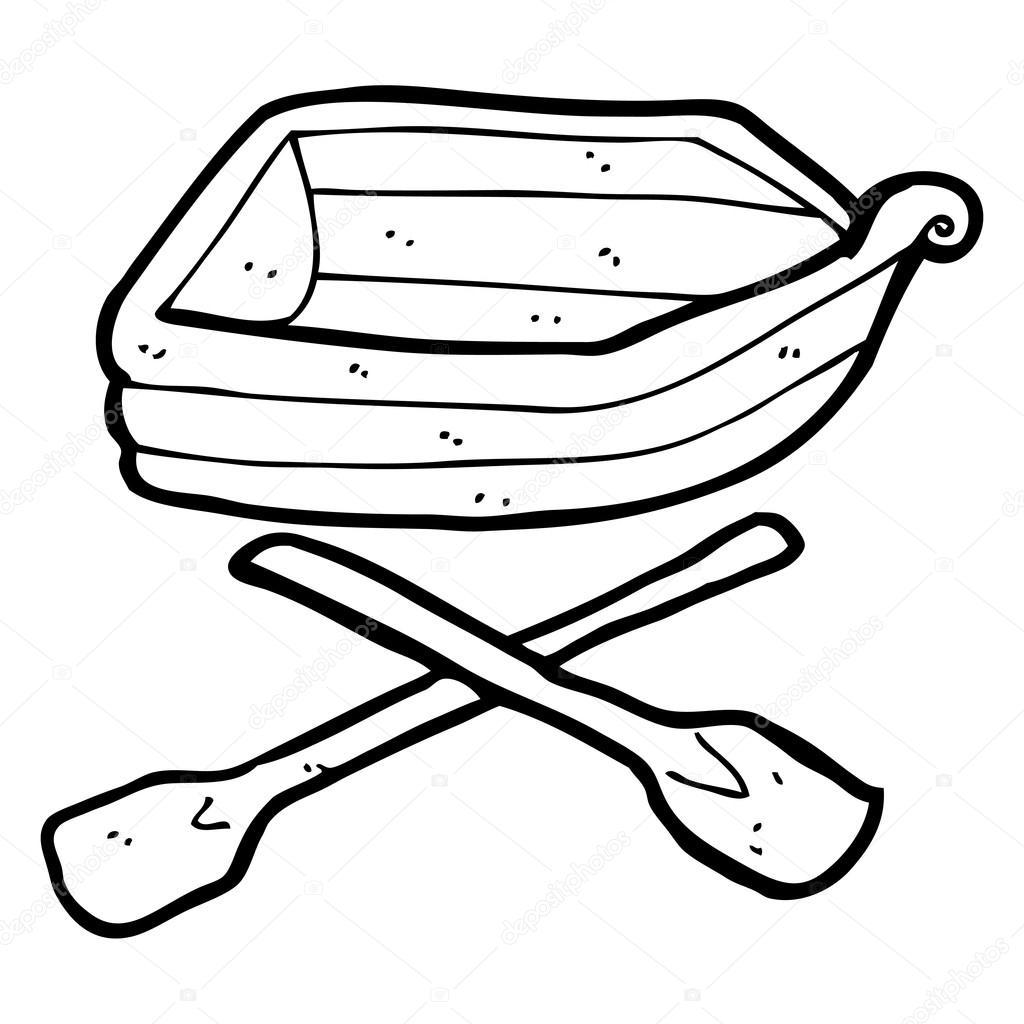 Cartoon Row Boat