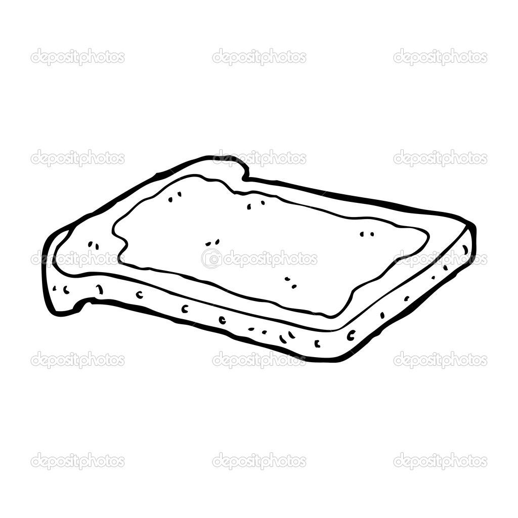 Dibujos Animados Mermelada Con Pan Tostado