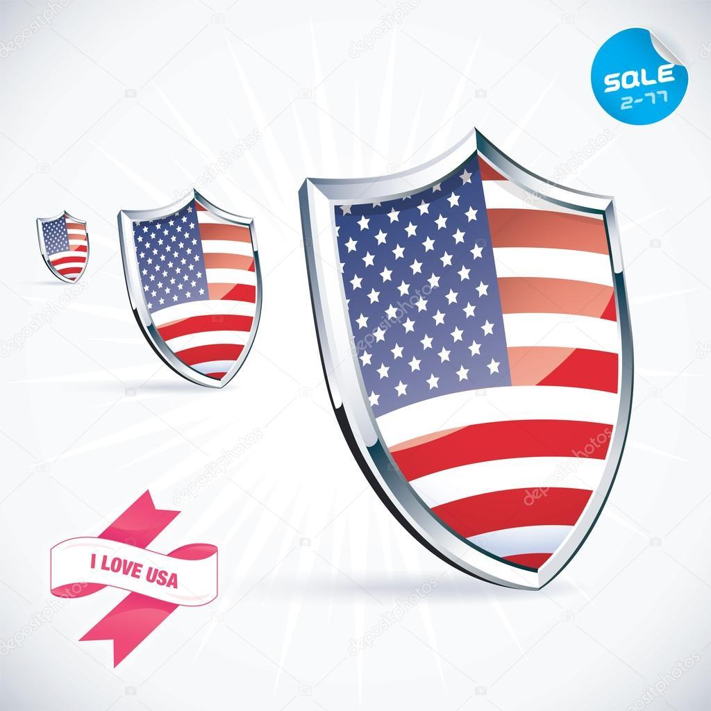 Download I Love USA Flag Illustration, Sign, Symbol, Button, Badge ...