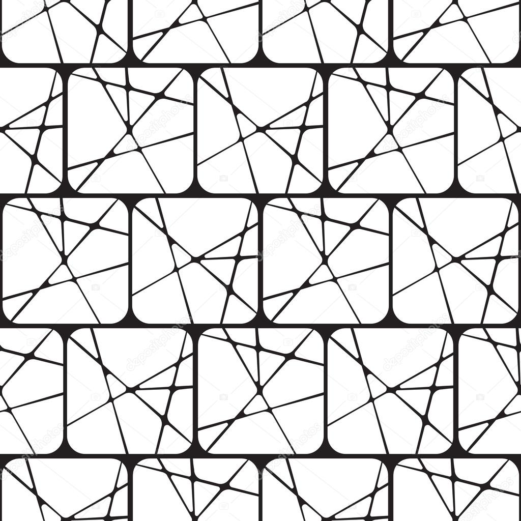 Black And White Abstract Geometric Seamless Pattern Backg