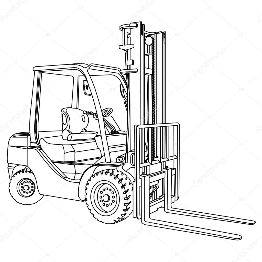 Forklift Outline Vector