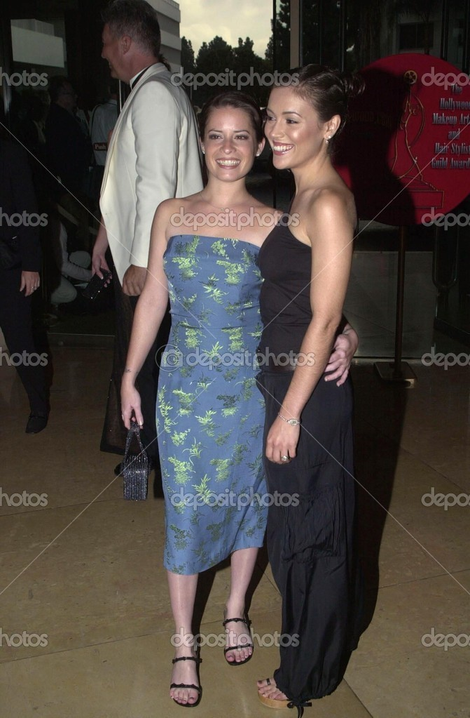 Holly Marie Combs And Alyssa Milano Stock Editorial