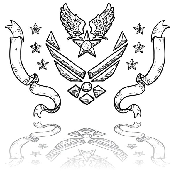 air force insignia coloring page