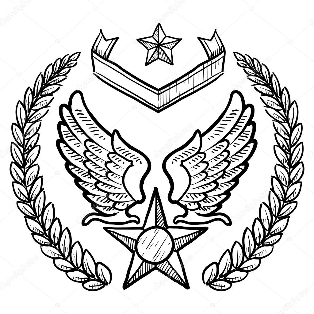 Us Air Force Insignia Sketch