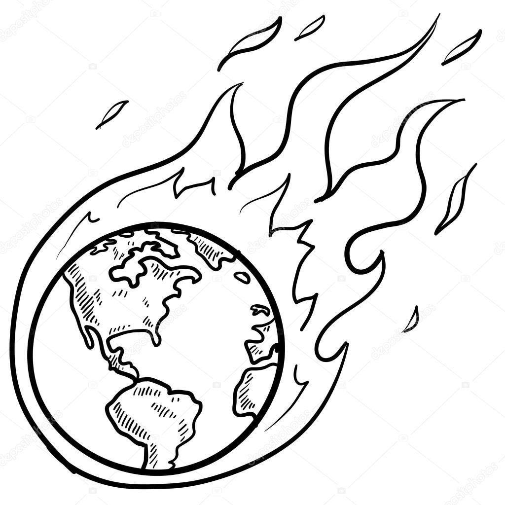 Global Warming Crisis Sketch