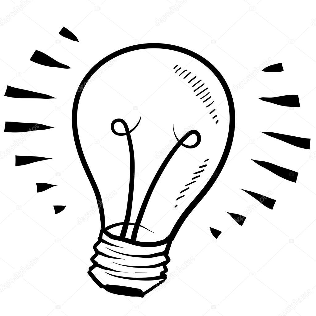 Gluhbirne Oder Idee Skizze