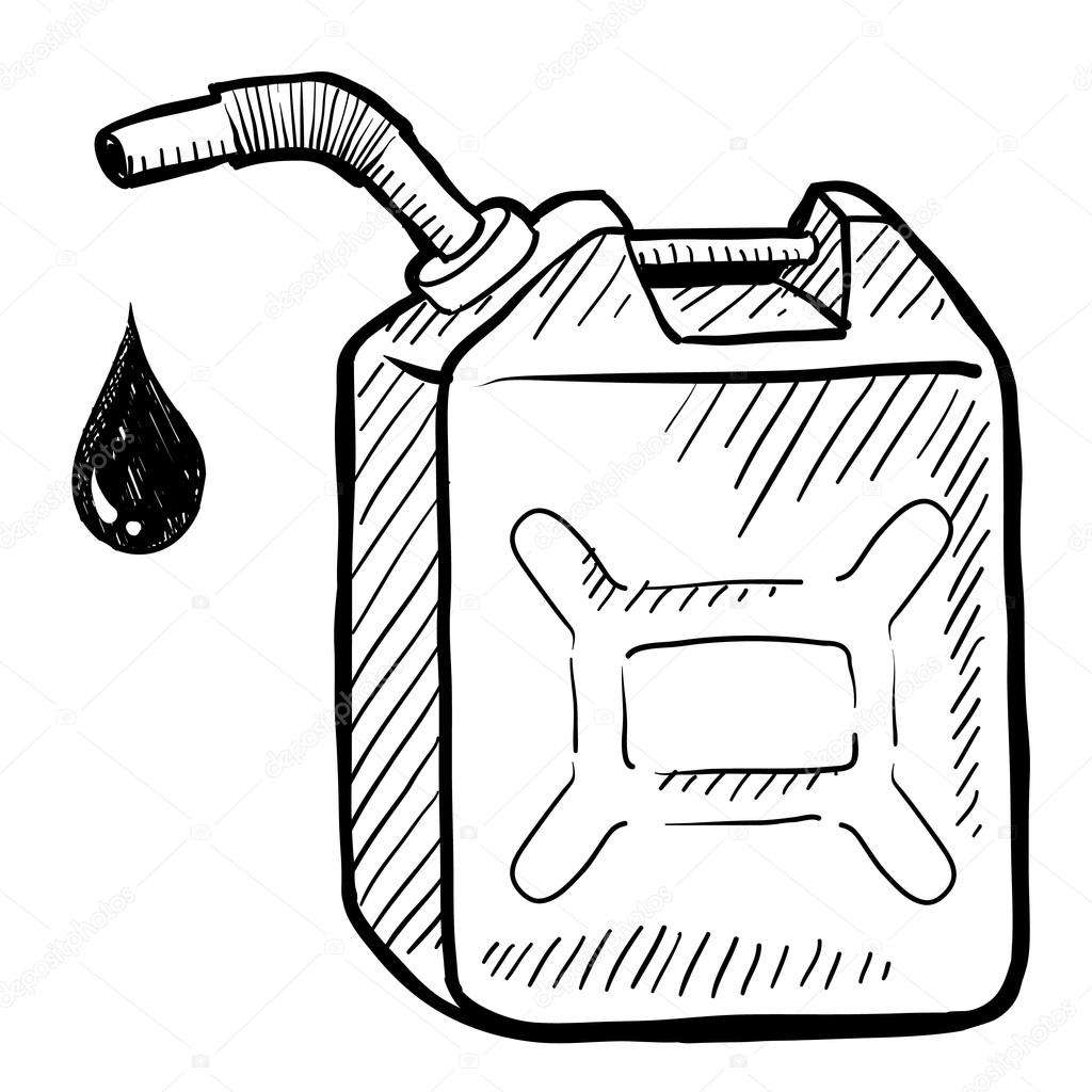 Gasoline Can Sketch