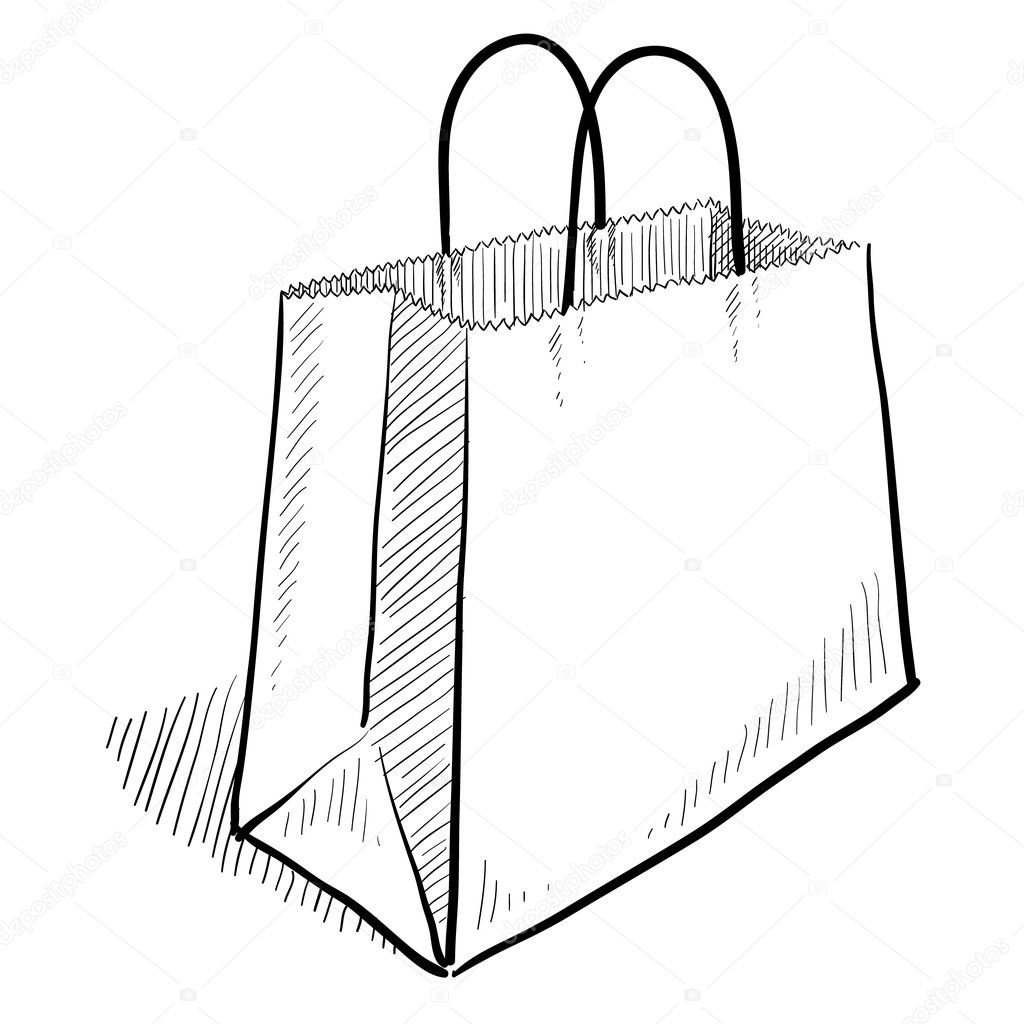 Shopping Bag Sketch