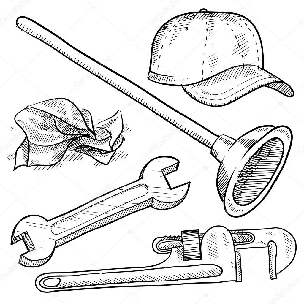 Plumbing Objects Sketch