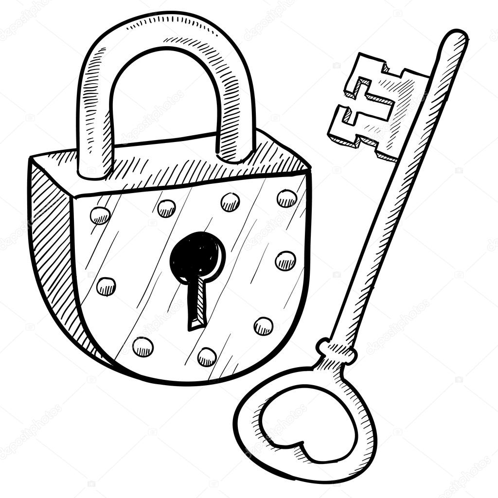 Antique Lock And Key Vector