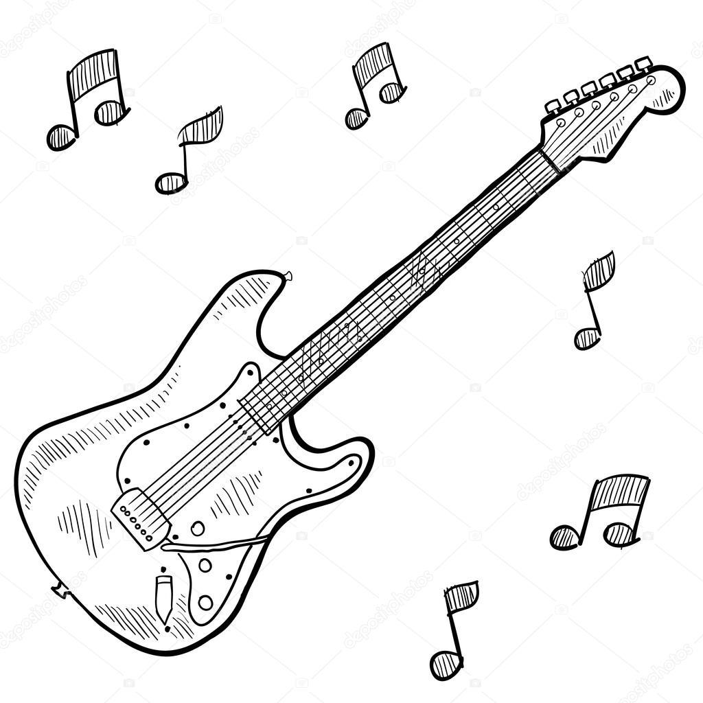 Instrumentos Musicales Para Dibujar Guitarra Guitarra Para