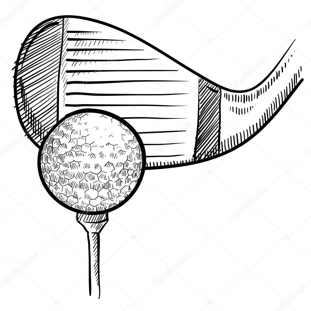 Golf Abschlag Skizze