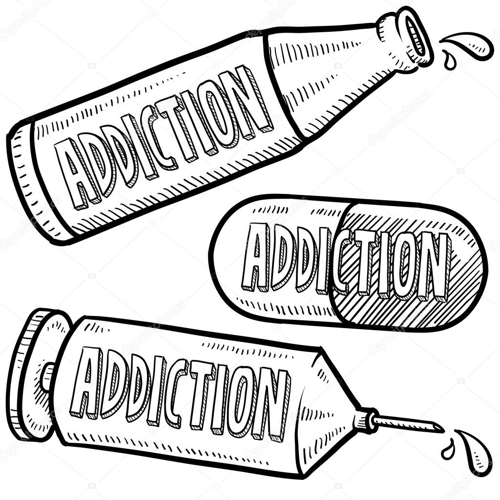 Drugs En Alcohol Verslaving Schets