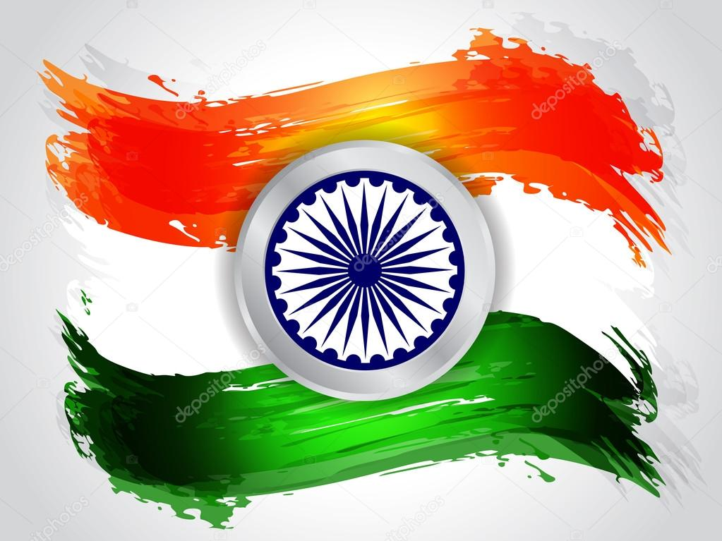 Creative Indian Flag Design Stock Vector C Creativehat 14478983
