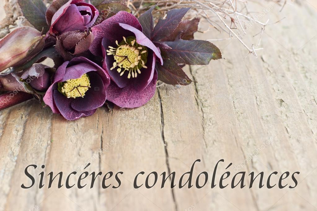 Carte De Condolances Photographie Coramueller 42152013