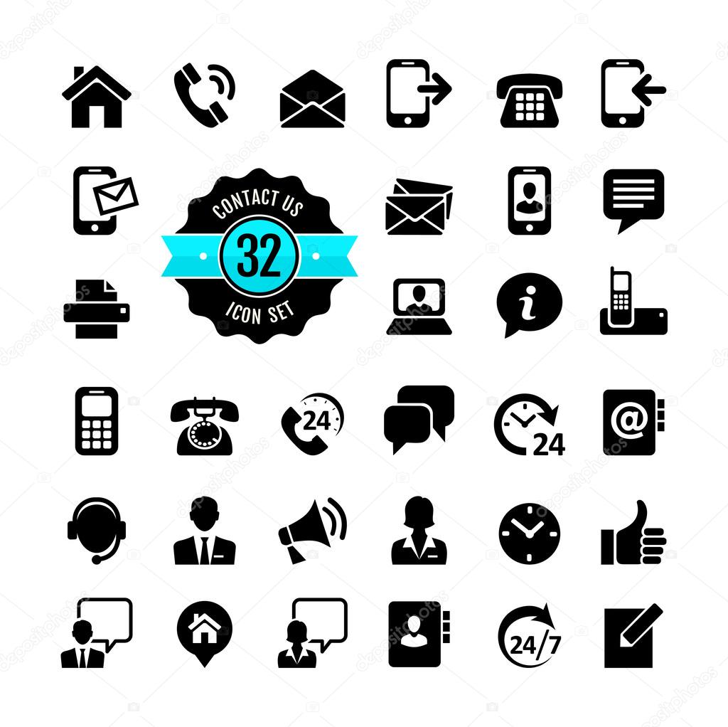 Web Icon Set Contact Us