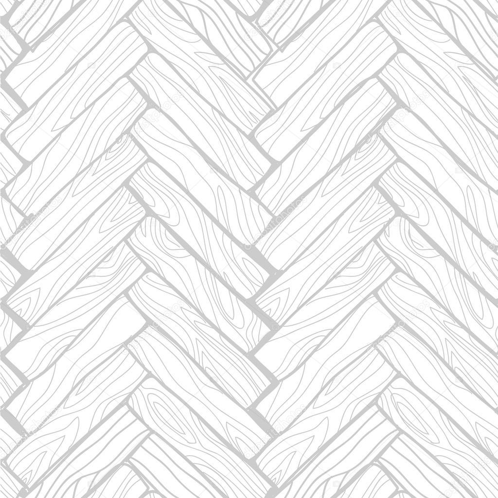 Vector Seamless Pattern Doodle Wood Floor Texture In Gray