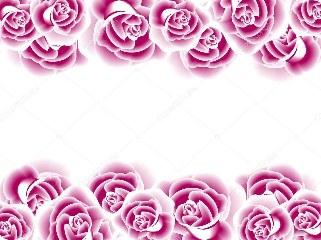Bordure Decorative Avec Des Roses Image Libre De Droit Par Ksanask C 28906373