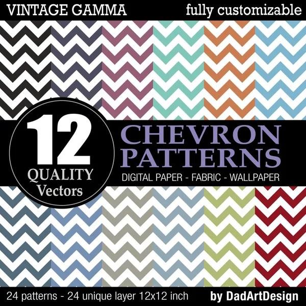 12 vintage vector patterns