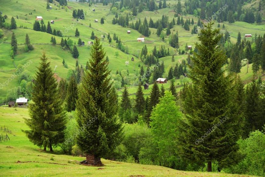 Paysage de montagne de Moldavie, Roumanie, europe ...