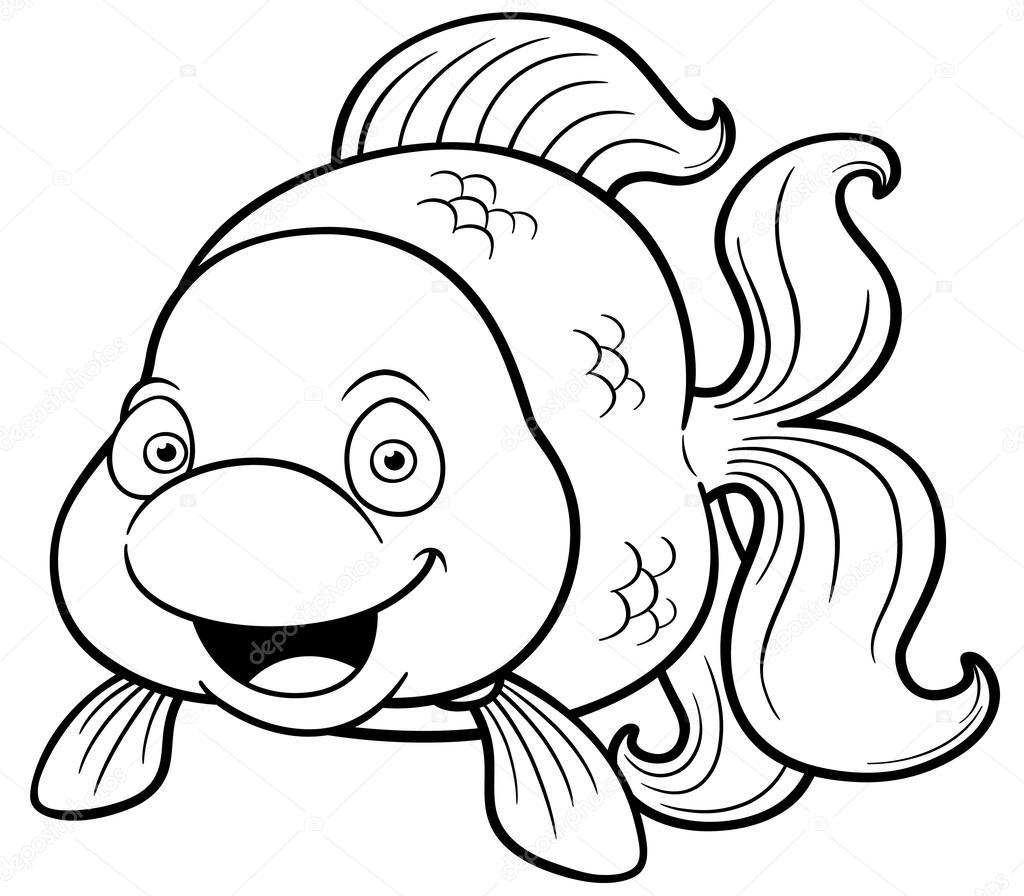 Ilustracao Dos Desenhos Animados Do Peixinho