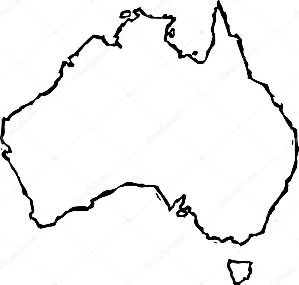Illustration Vectorielle De La Carte De L Australie