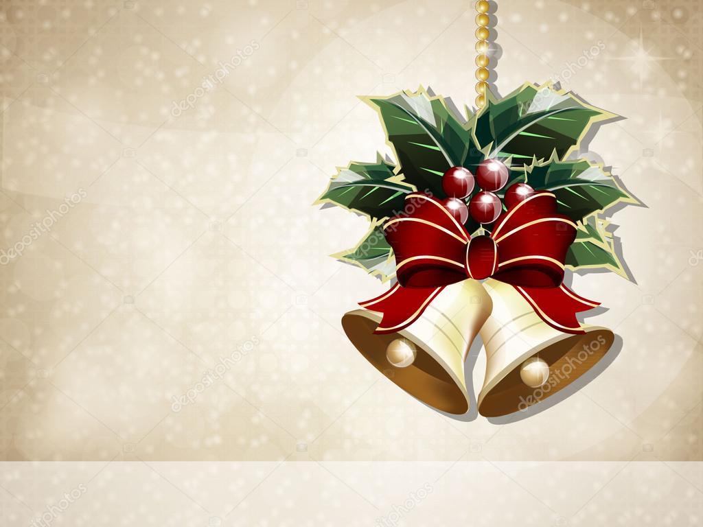 Christmas Bells Card Background Stock Vector Laihiala