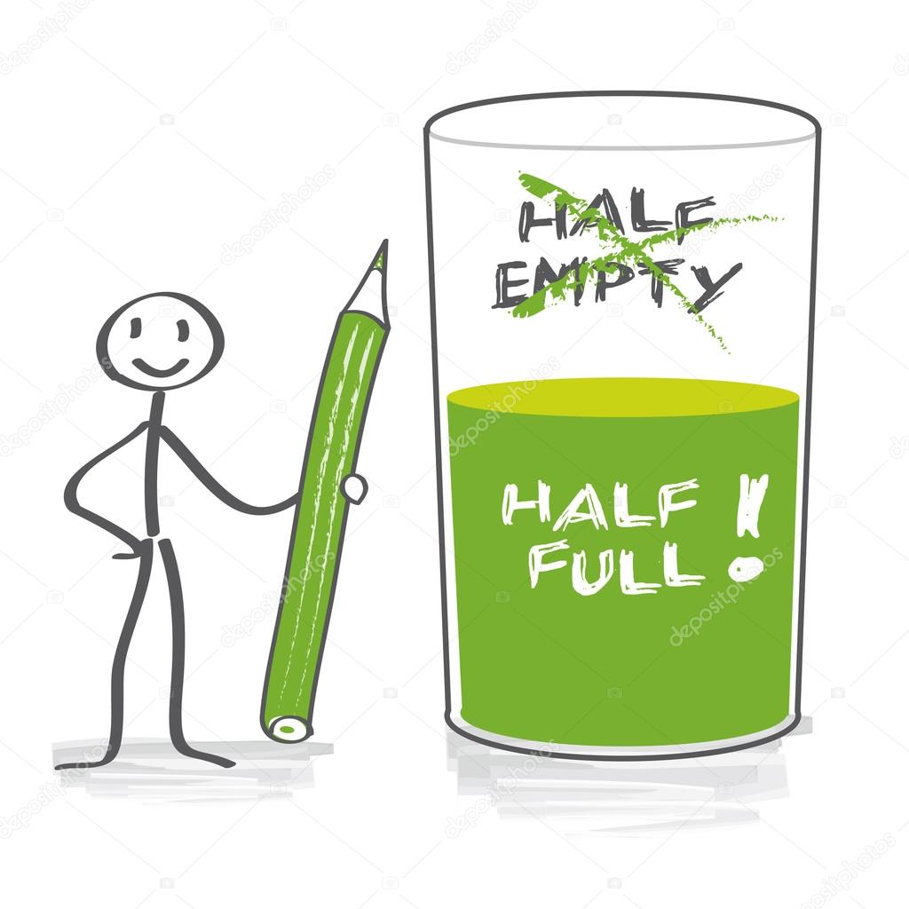 Optimist With Half Full Glass