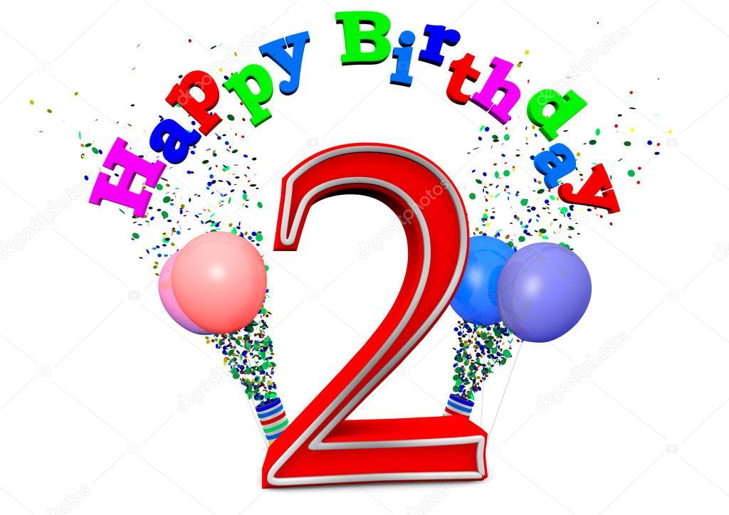 Happy 2nd Birthday Stock Photo Image By C Jonaswolff 33681225