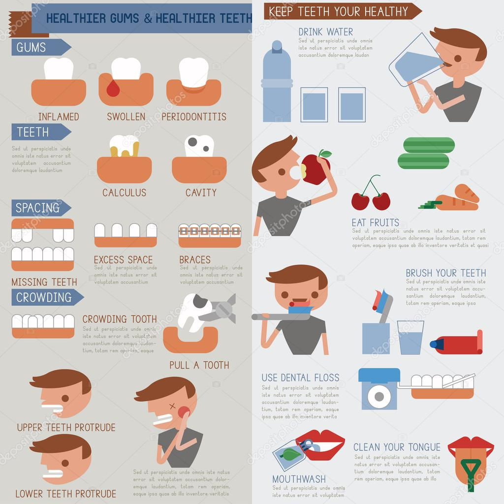 Healthier Gums And Healthier Teeth Infographic