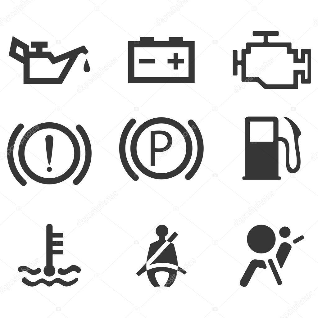 Bil Granssnitt Symboler