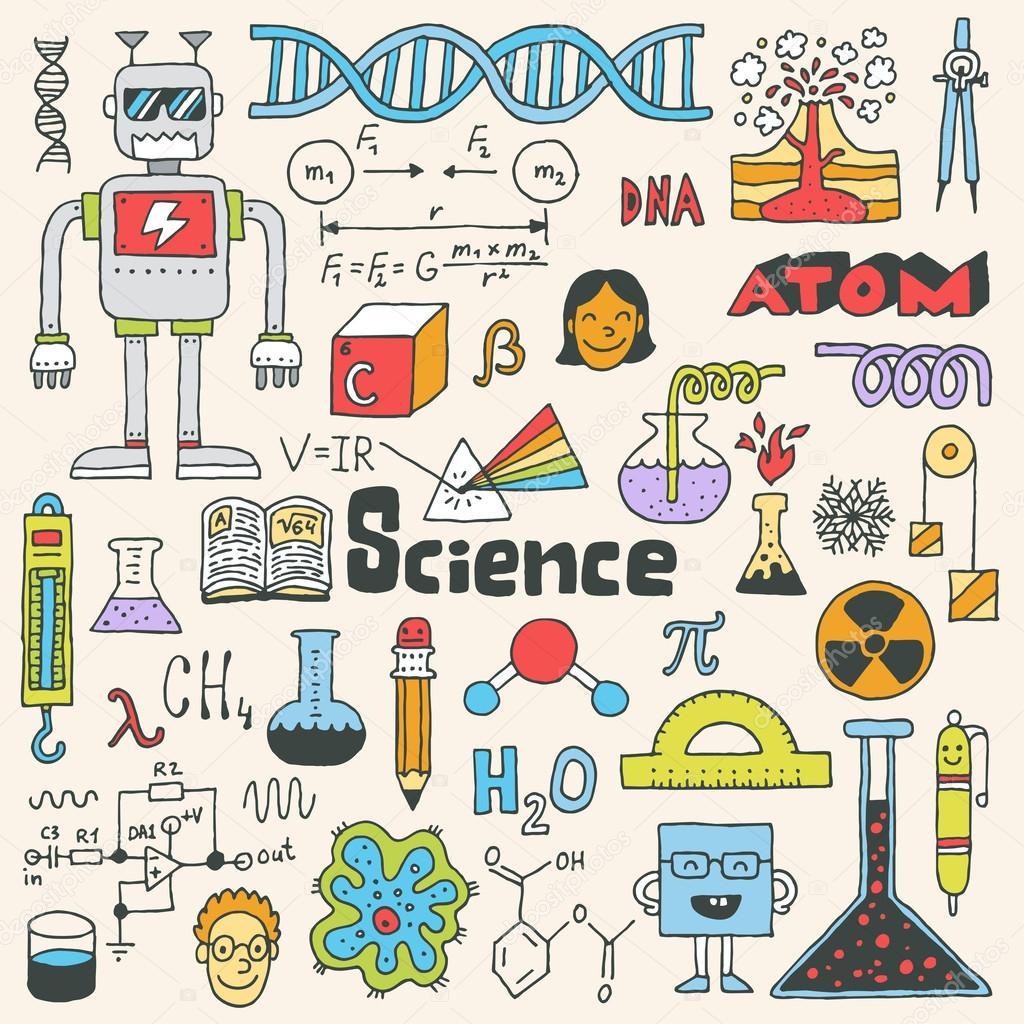 School Science Doodle Set