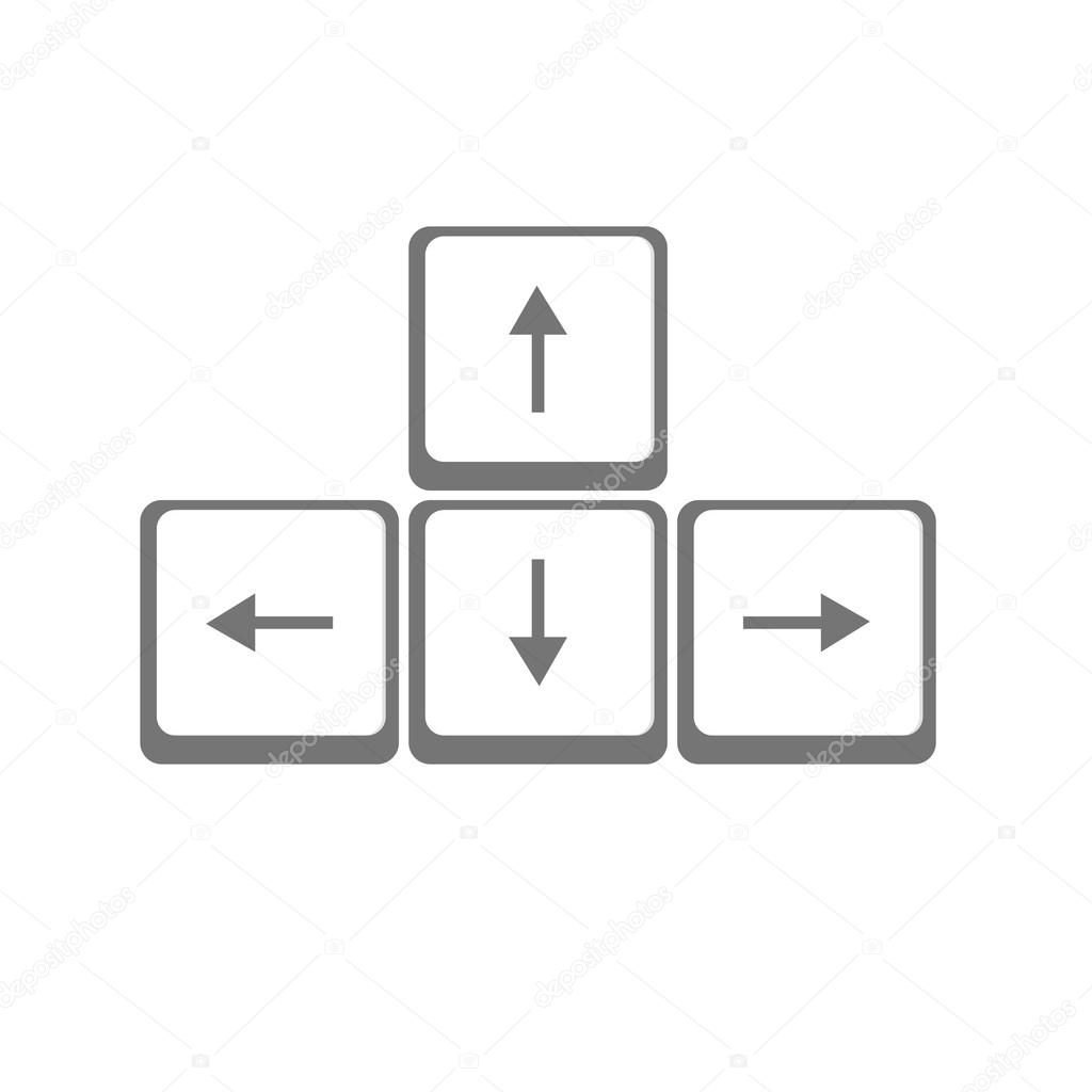 Vektor Pfeile Tasten Tastatur