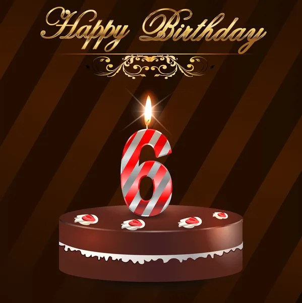 6 Jahre Happy Birthday Hard Mit Kuchen Und Kerzen 6 Geburtstag Vektor Eps10 Vektorgrafik Lizenzfreie Grafiken C Atulvermabhai 48710423 Depositphotos