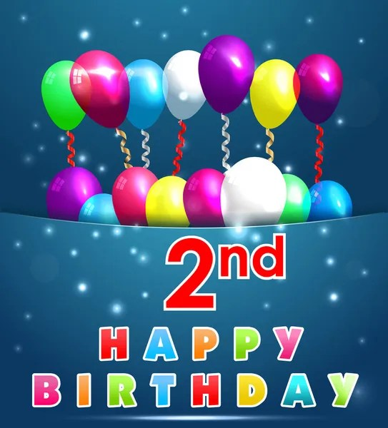 1 059 Happy 2nd Birthday Vector Images Free Royalty Free Happy 2nd Birthday Vectors Depositphotos