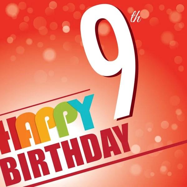 435 9th Birthday Vector Images Free Royalty Free 9th Birthday Vectors Depositphotos