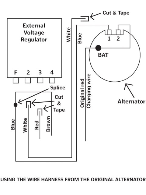 Alternator Wiring Diagram Internal Regulator Gm External Vole