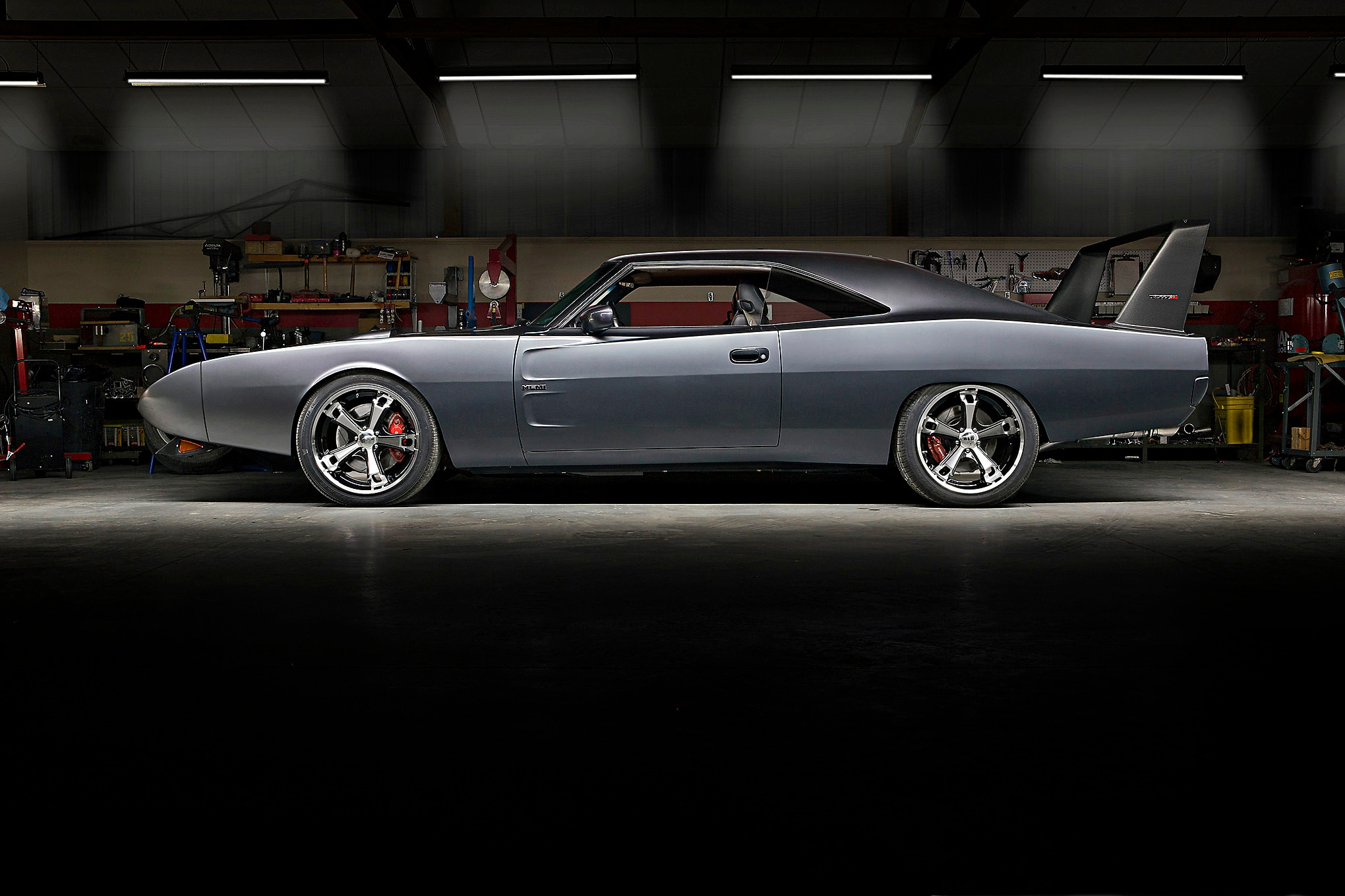 Most home-built fusions of old and new are abominations-if they're even finished at all. Steve Mirabelli's '69 Dodge Daytona clone-actually a 2006 Dodge Charger SRT8 under the skin-is a real work of art.