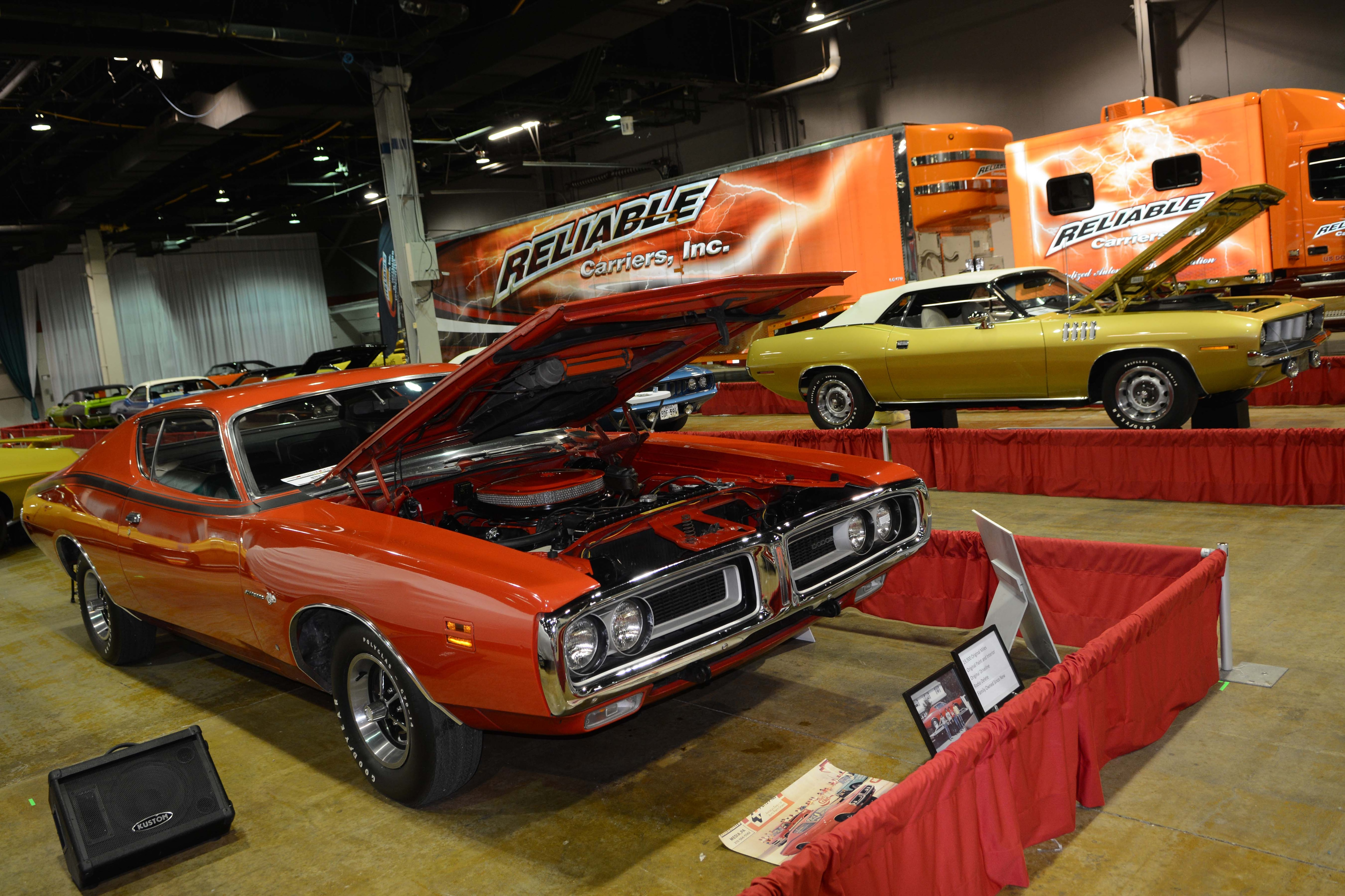 A couple of gems in the Class of 1971 display; Reliable and others brought in semi-loads of cars from around the country. For more info, go to www.mcacn.com