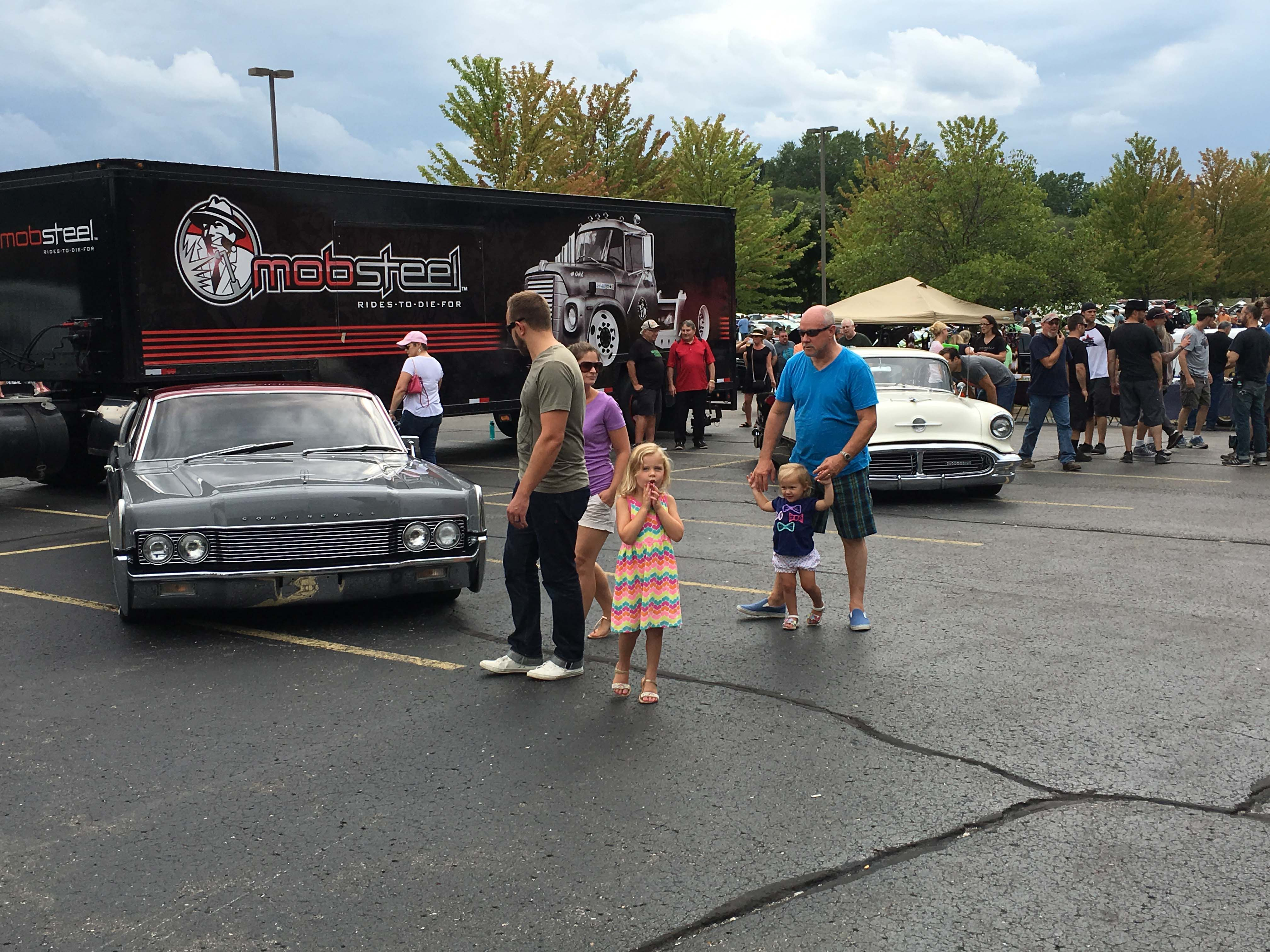 The Baker Cruise is held every Sunday during the summer in Milford, MI. It is one of the largest and longest-running weekly cruises in the country. During our visit the crew from the Mob Steel TV show was filming for an episode of that popular cable series.