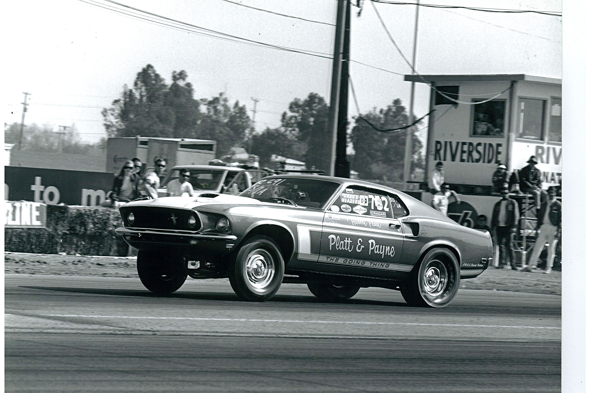 """Platt racing at the Hot Rod Magazine Championship Drags, where he (and two other Ford pilots) were found """"on the light side"""" in post-race tech, according to the magazine's race coverage."""