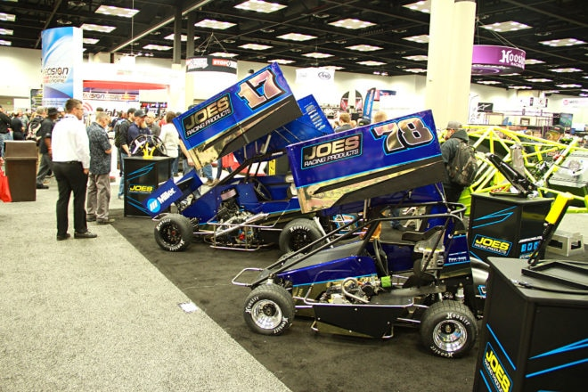 The Junior Sprint and Microsprint were proudly on display at the JOES booth.  There was plenty of interest in both chassis.