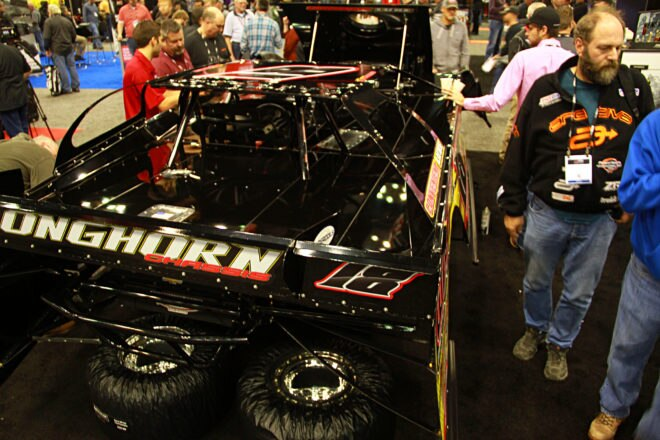 Everyone wanted to take a look at this Longhorn Chassis in the Penske booth. Longhorn has built a powerful name in dirt racing with the success of Jonathan Davenport being a large factor.