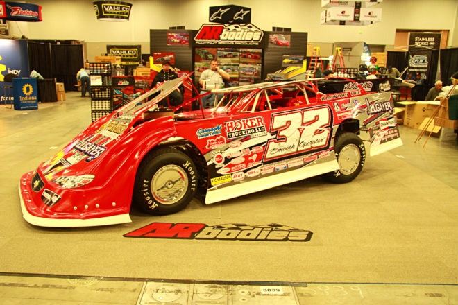 This may have been the most photographed, and socialized car of the PRI Show. Bobby Pierce quickly is becoming one of the most popular drivers on the Dirt Late Model scene.