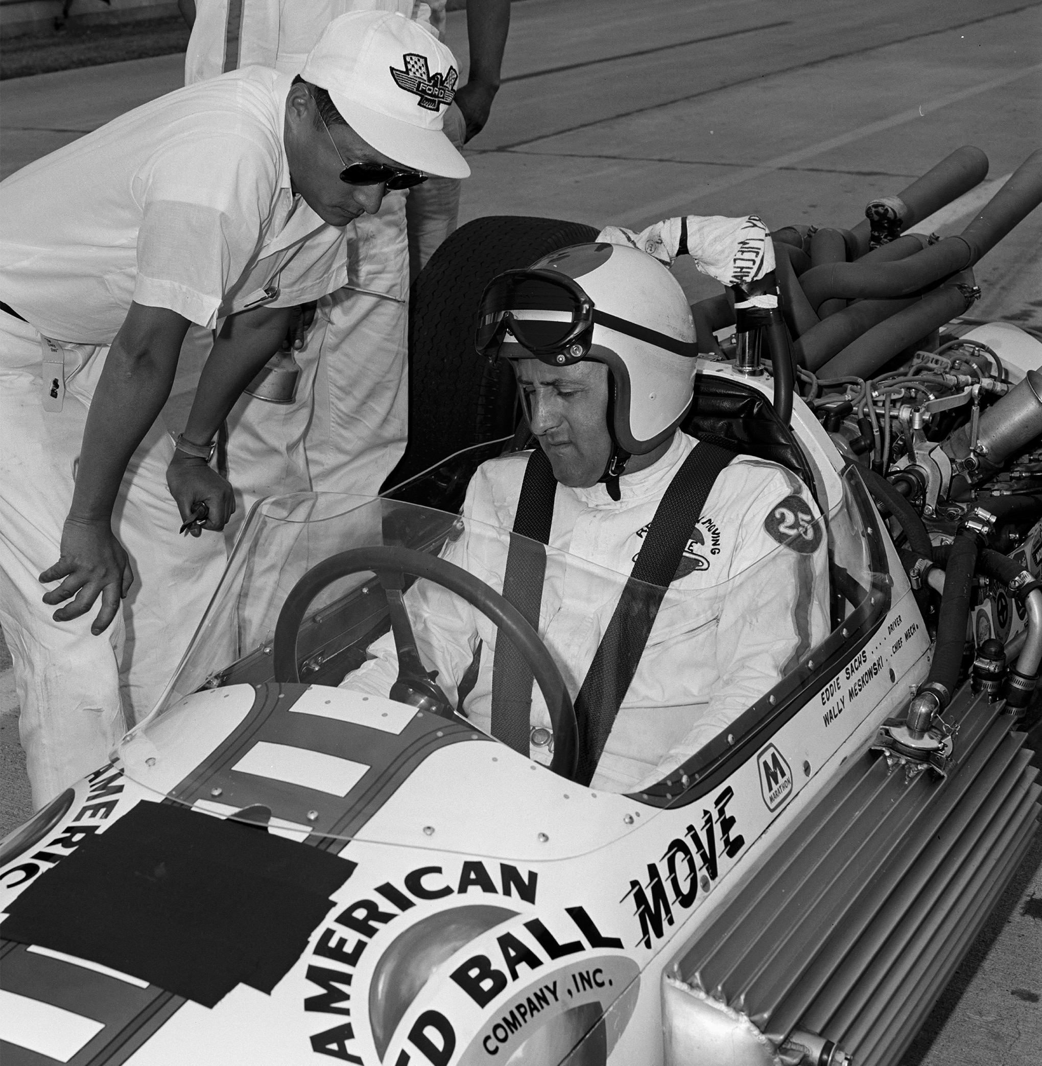 A second explosion erupted when Ted Halibrand's Shrike drove into Mickey Thompson's flaming Sears-Allstate Special, both of which were loaded with nearly full tanks of gasoline. Veteran driver Eddie Sachs reportedly died on impact.