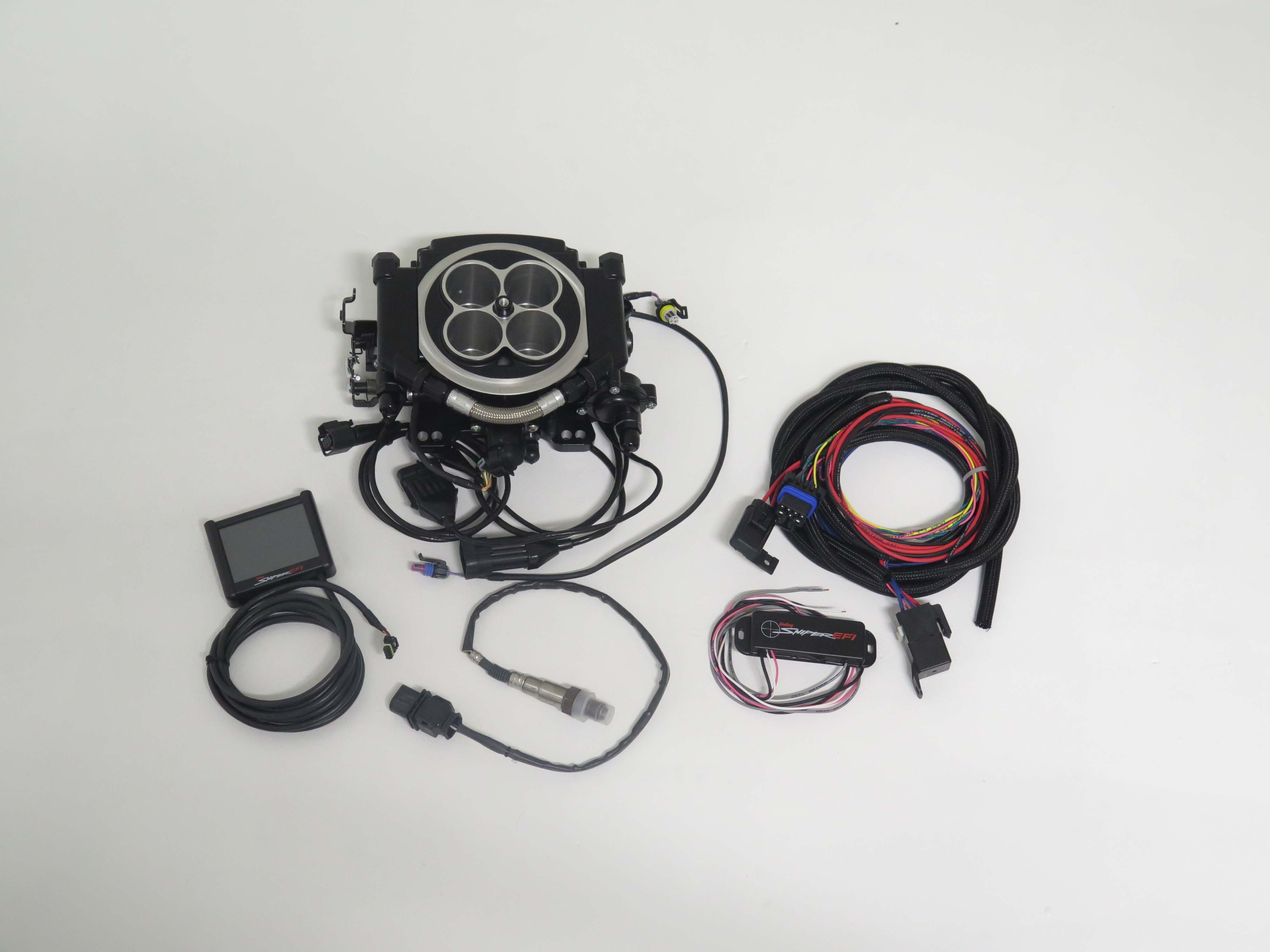 Holley Hits The Efi Bulls Eye Tamrazs Parts 800 442 4601 Wiring Harness Holleys Sniper Is Available In Two Versions Base Kit Includes Throttle Body