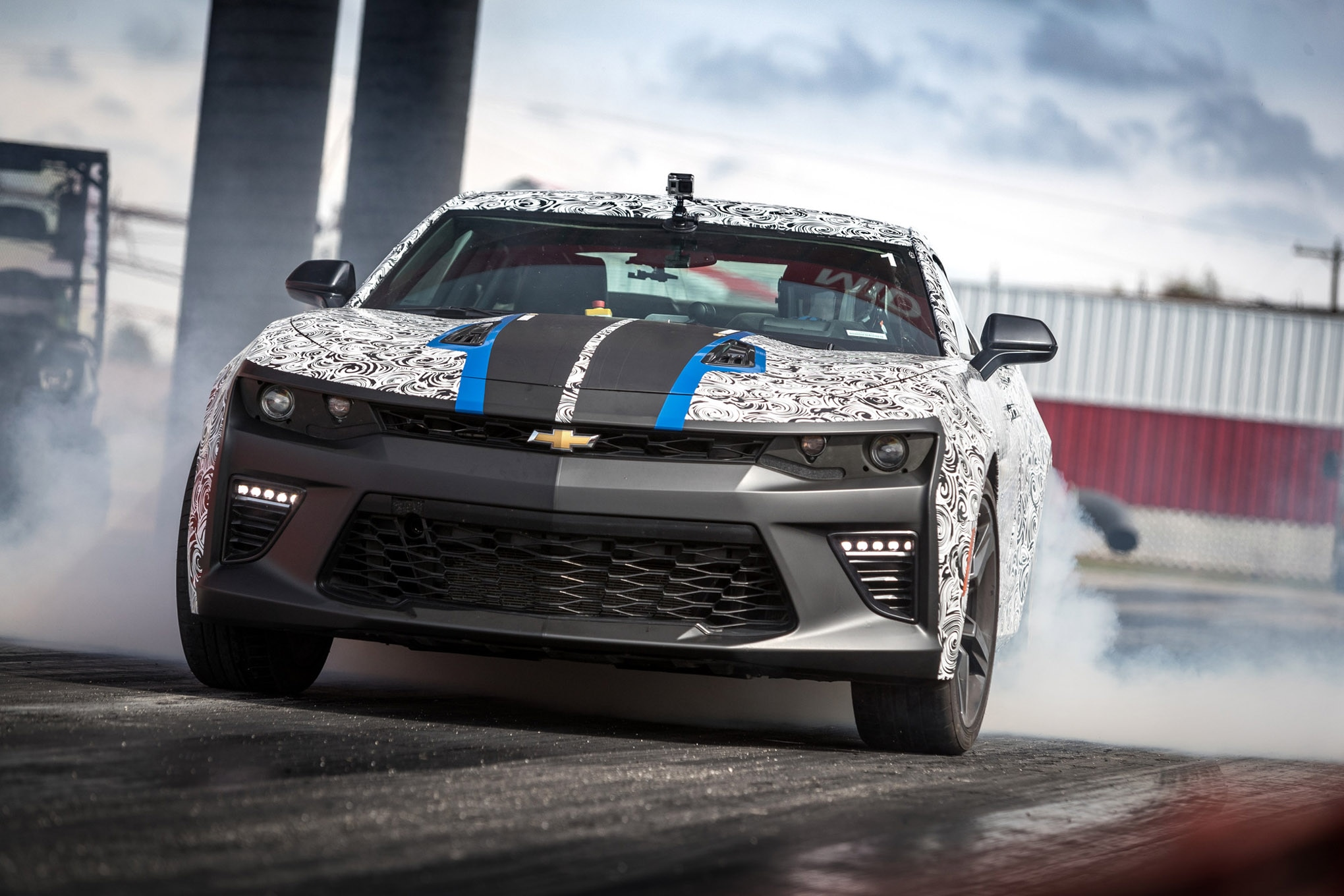 Final validation for parts includes 200 back-to-back runs on a prepped dragstrip, the same testing process that's used for the COPO Camaro.