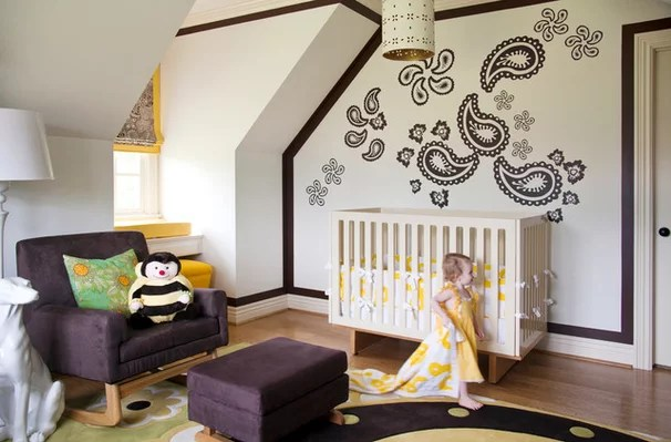 Traditional Nursery by Tobi Fairley Interior Design